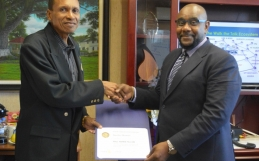 NCRHA's CEO Mr. Davlin Thomas receives Paul Harris Fellow award